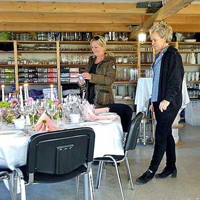 Showroom hos Fuglsanggaard Festudlejning